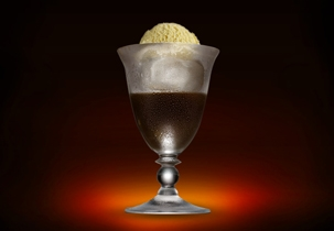 The classic spiked root beer float! Yum!