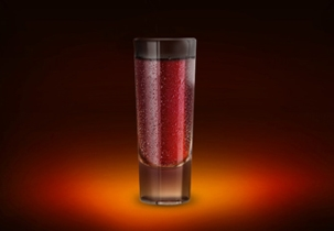 Jägermeister, peach schnapps and cranberry mix together for the perfect shot.
