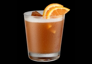 This riff on a classic Old Fashioned replaces the sugar and bitters with Jägermeister.