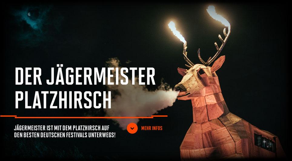 DER JÄGERMEISTER PLATZHIRSCH