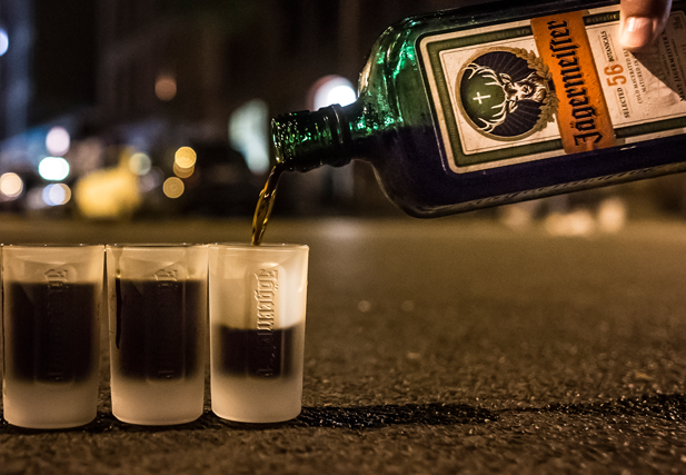 Best Served Ice-Cold: Jäger Shot.