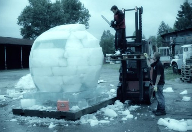 The ice ball (Czech Republic)