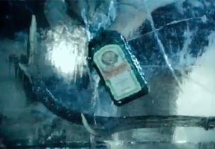 The ice ball: a message from Planet Jägermeister?