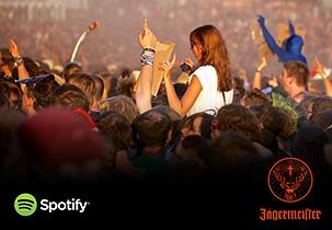 Jägermeister Playlists auf Spotify für die Festivals 2014