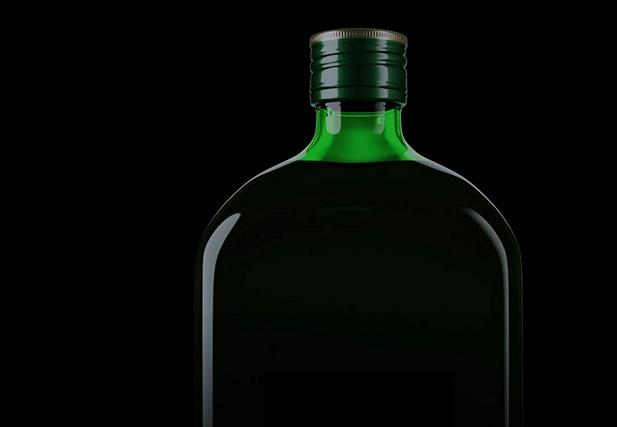 Die Flasche im Detail