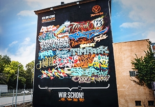 Jägermeiser #WallsOfWir Stuttgart