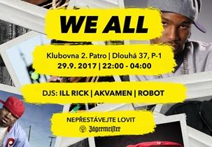 WE ALL 15 - Klub 2.patro, Praha 29.9.2017