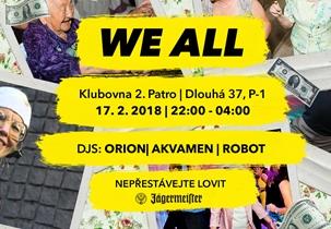 WE ALL 20 - Klub 2.patro, Praha 17.2.2018